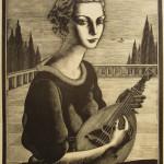 Zetti, ritratto di Clara, 1935, Carpi, Museo della Xilografia